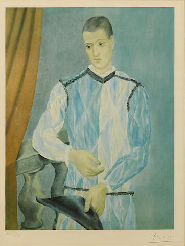 Pablo Picasso-After Pablo Picasso - Arlequin, from Barcelona Suite-1966