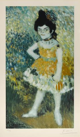 Pablo Picasso-After Pablo Picasso - La Danseuse Naine, from Barcelona Suite-1966