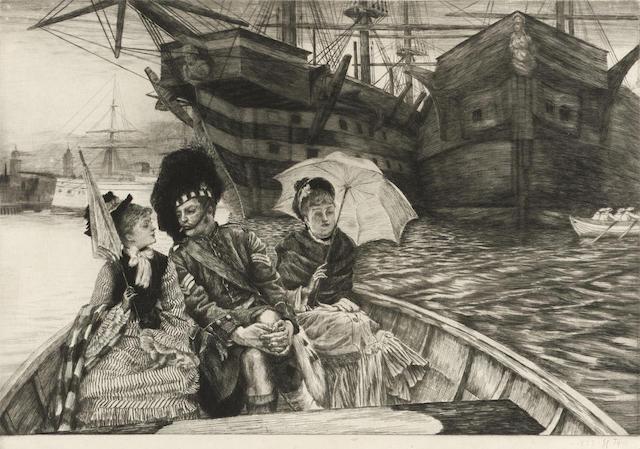 James Jacques Joseph Tissot-Entre les deux mon coeur balance-1877
