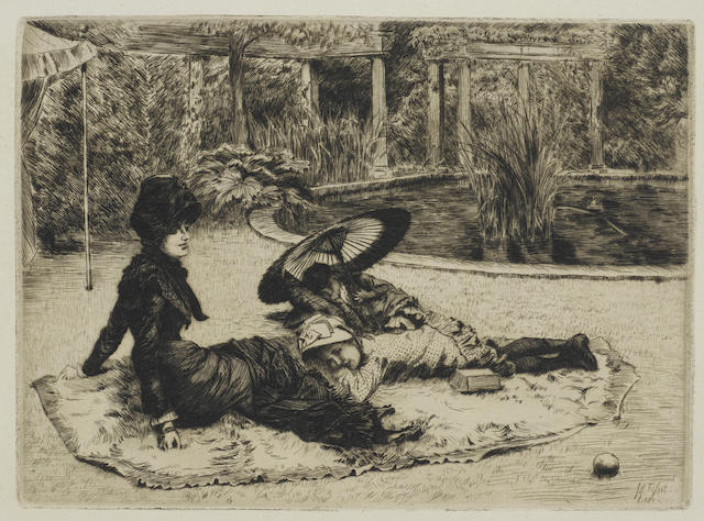 James Jacques Joseph Tissot-Sur l'herbe-1880