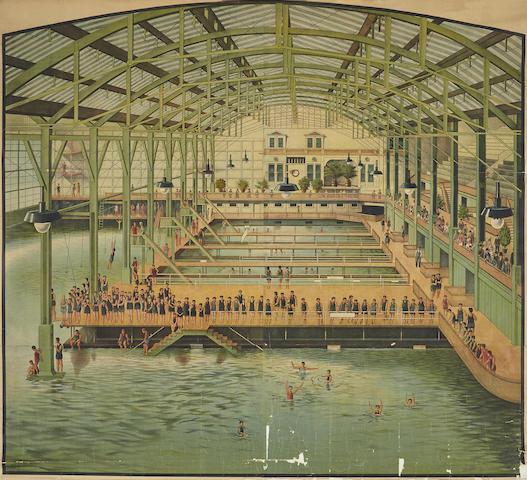 Unknown Artist - Sutro Baths, San Francisco-1896