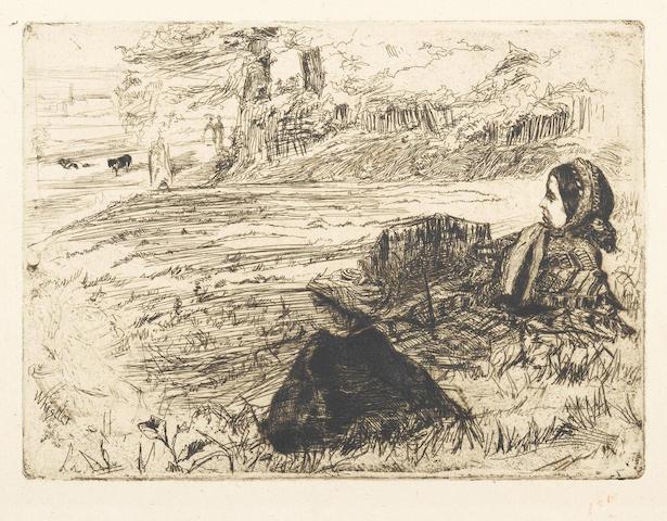 James Abbott McNeill Whistler-Nursemaid and Child-1859
