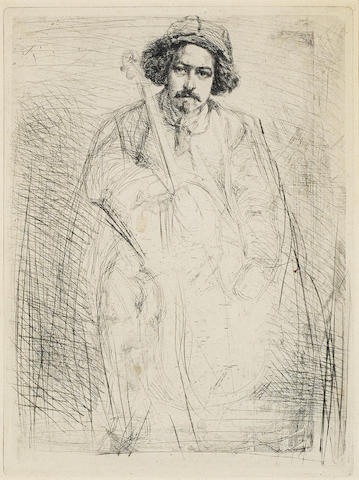 James Abbott McNeill Whistler-J. Becquet, from A Series of Sixteen Etchings of Scenes on the Thames-1859
