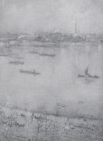 James Abbott McNeill Whistler-The Thames-1896