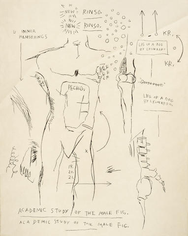Jean-Michel Basquiat-Academic Study of the Male Figure-1983