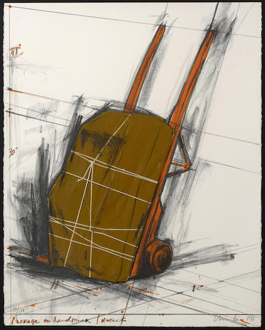 Christo and Jeanne-Claude-Package on Handtruck, Project-1981