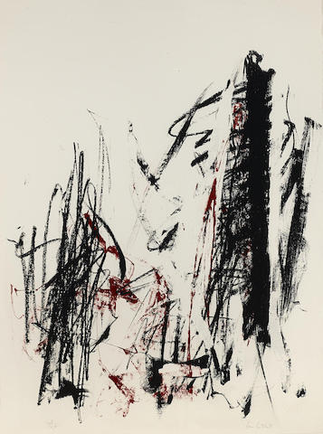 Joan Mitchell-Arbres (Black and Red)-1992