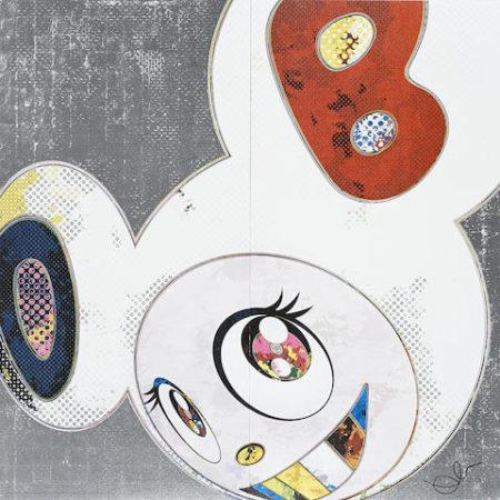 Takashi Murakami-This World and the World Beyond; DOB in Pure White Robe (Navy & Vermilion); DOB in Pure White Robe (Pink & Blue)-2013