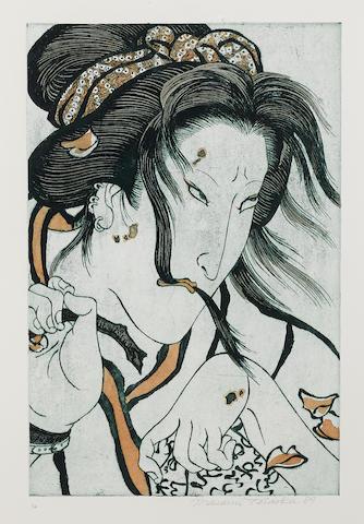 Masami Teraoka-Ghost Geisha, from AIDS series-1989