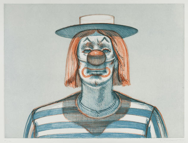 Wayne Thiebaud-Clown, from Recent Etchings I-1979