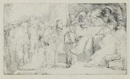 Rembrandt van Rijn-Christ Disputing with the Doctors: A Sketch-1652