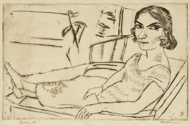 Max Beckmann-Italienerin-1923