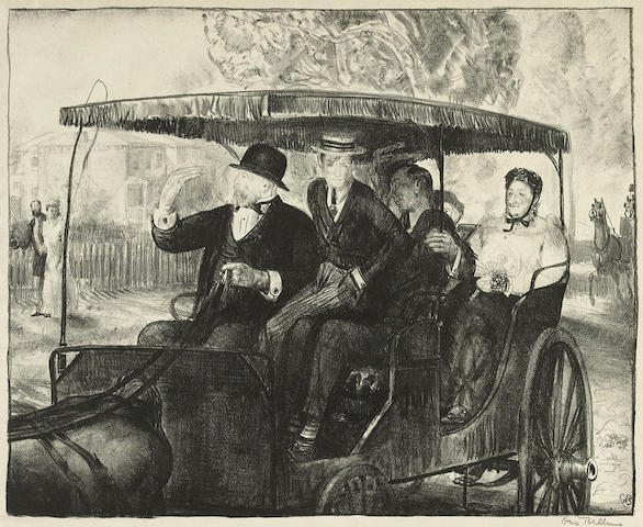 George Bellows-Sunday, Going to Church 1897-1921
