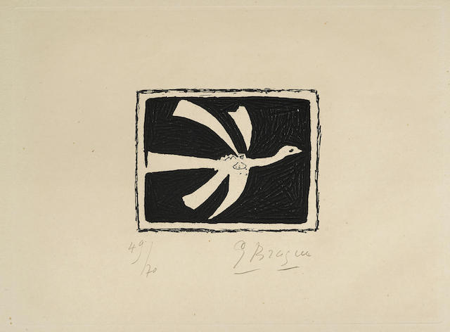 Georges Braque-One plate, from Aout-1958