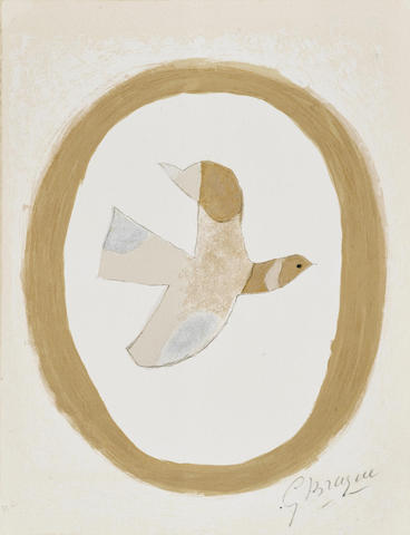 Georges Braque-L'oiseau de sables, from Braque Lithographe-1962