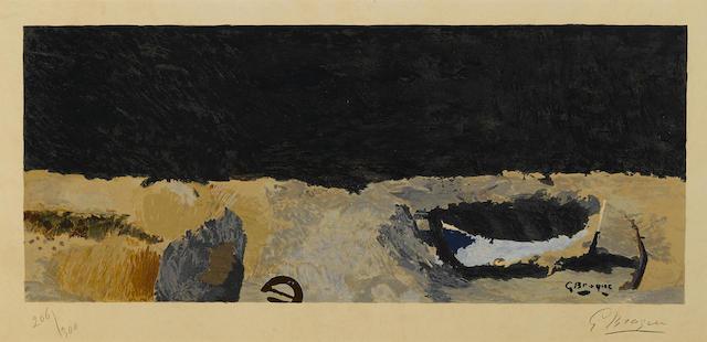 Georges Braque-After Georges Braque - La barque sur la greve-1955