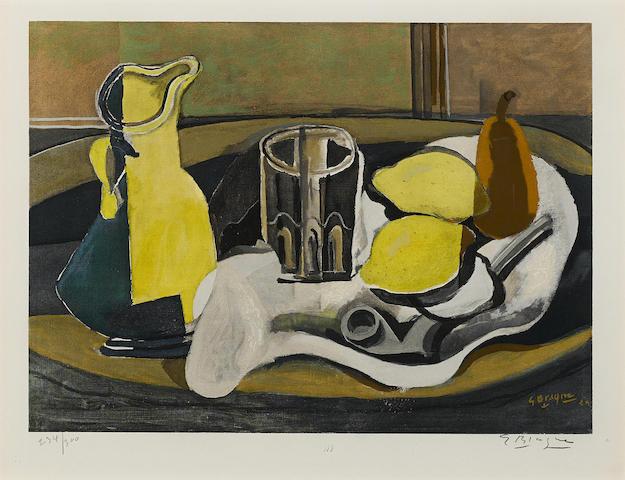 Georges Braque-After Georges Braque - Nature morte aux citron-1960
