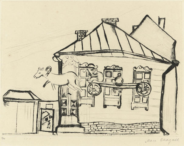 Marc Chagall-Haus in Witebsk, pl. 11, from Mein Leben-1923