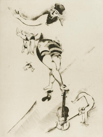 Marc Chagall-L'acrobate au violon-1924