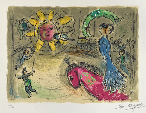 Marc Chagall-Soleil au Cheval rouge-1979