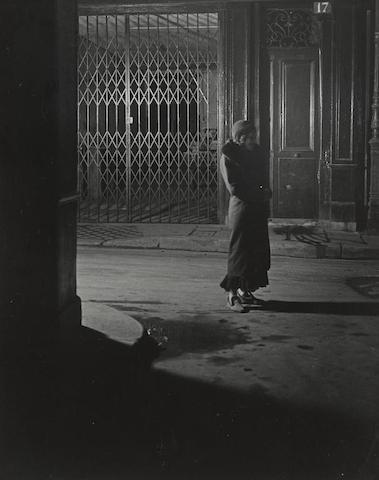 Brassai-Prostitute in Slippers, Naked under Her Coat, Rue Quincampoix-1932