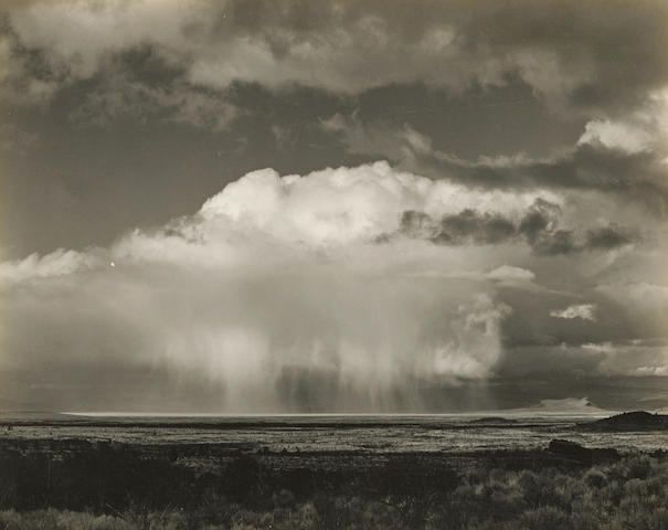 Edward Weston-Rain over Modoc Lava Beds, California-1937
