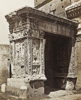 Bisson Freres-l'arc des orfevres (The Arch of the Silversmiths), Rome-1858