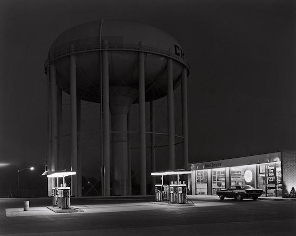 George Tice-Petit's Mobil Gas Station, Cherry Hill, New Jersey.-1974