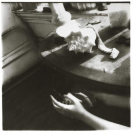 Francesca Woodman-But Lately I Find a Sliver of a Mirror is Simply to Slice an Eyelid-1980