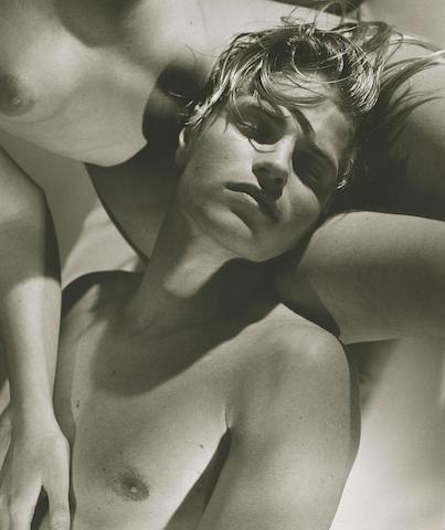 Bruce Weber-Jerome and His Girlfriend, Paris Studio-1987