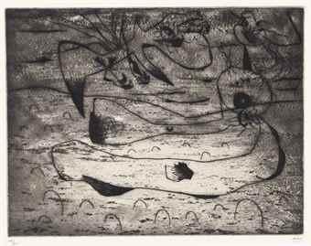 Joan Miro-L'Aigle et la Femme la Nuit-