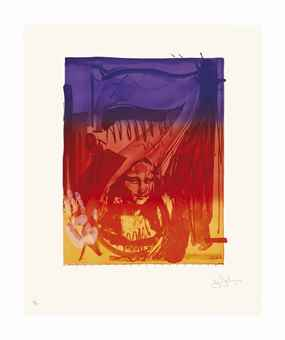 Jasper Johns-Figure 7, from Color Numeral Series-1969