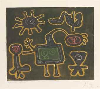 Joan Miro-Serie I: One Plate-1953