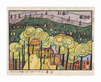 Friedensreich Hundertwasser-Midori No Namida-1974