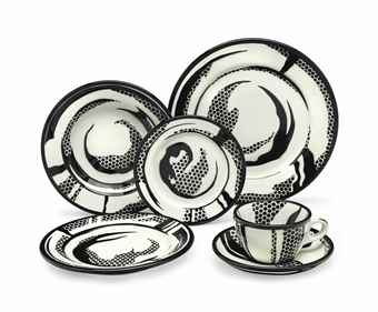 Roy Lichtenstein-Dinnerware: Ten place settings-1966