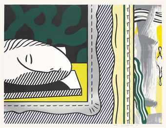Roy Lichtenstein-Two Paintings: Sleeping Muse, from Paintings Series-1984
