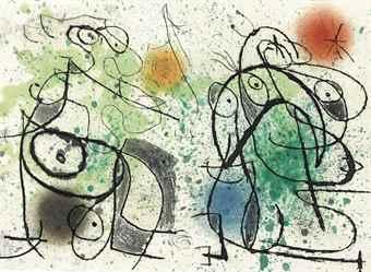 Joan Miro-Adrian de Monluc, dit Comte de Cramail, Le Courtesan Grotesque, Illiazd, Paris, 1974-1974