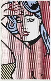 Roy Lichtenstein-Nude with Blue Hair-1994