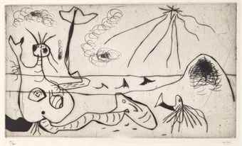 Joan Miro-La Baigneuse-1938