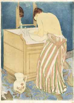 Mary Cassatt-Woman Bathing (La Toilette)-1891