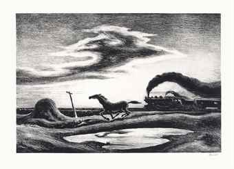 Thomas Hart Benton-The Race-1942