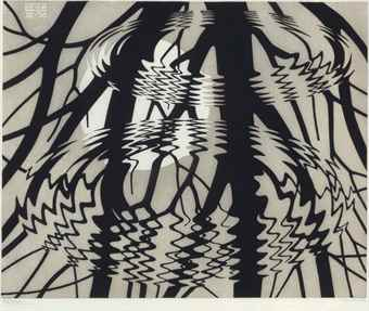 Maurits Cornelis Escher-Rippled Surface-