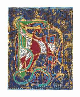 Frank Stella-Imola Three IV, from Circuits-1984