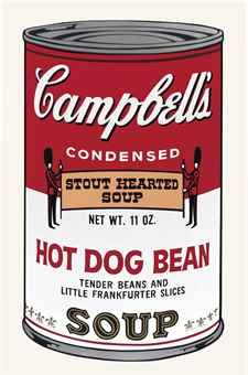 Andy Warhol-Hot Dog Bean, from Campbell's Soup II-1969