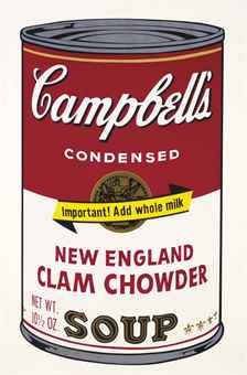 Andy Warhol-New England Clam Chowder, from Campbell's Soup II-1969