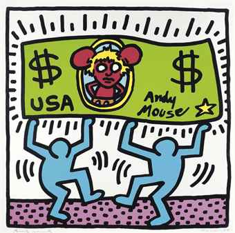Keith Haring-Andy Mouse-1986