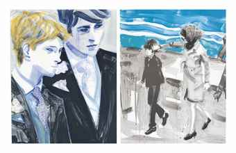 Elizabeth Peyton-Four Prints by the Artist: Jackie and John; John; William and Harry; William-2000