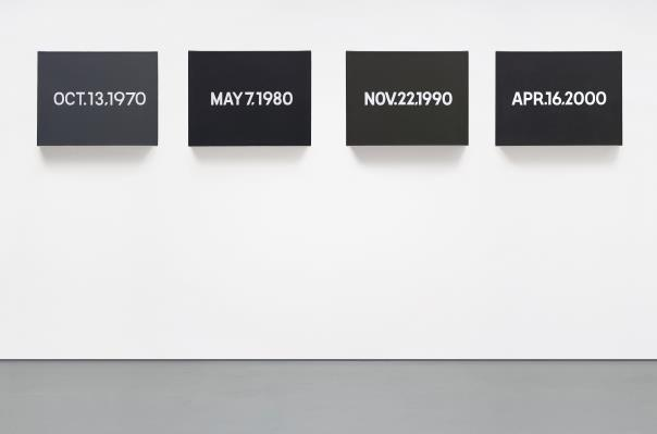 On Kawara-Four Decades (Oct.13, 1970 / May 7, 1980 / Nov.22, 1990 / Apr.16, 2000)-2000