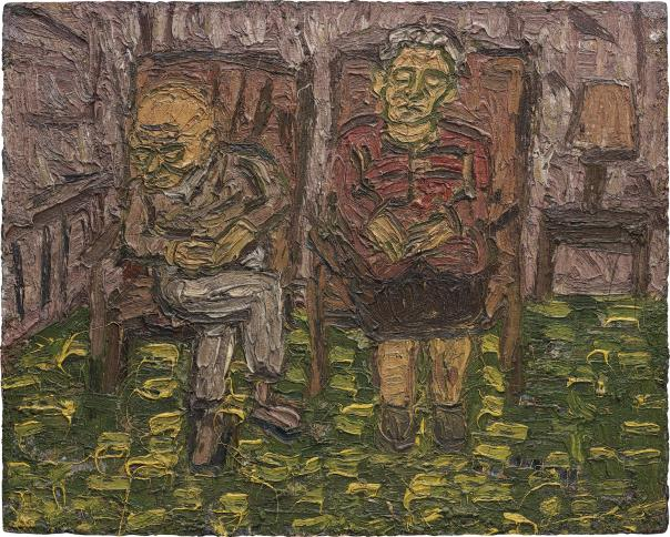 Leon Kossoff-Two Seated Figures No.1 (My Parents)-1980