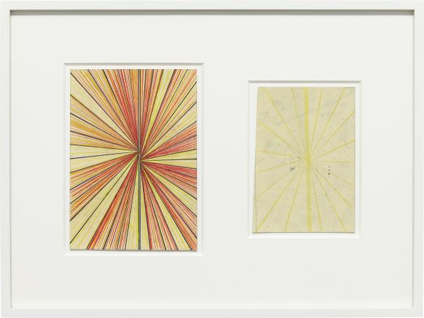 Mark Grotjahn-Untitled (Cr.Cy And Cream Butterfly Blonde Butterfly Drawing In Two Parts)-2009
